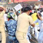 Police strike Kushwaha supporters in Patna